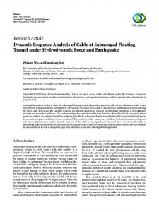 Dynamic Response Analysis of Cable of Submerged Floating Tunnel ...