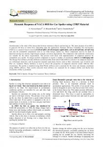 Dynamic Response of NACA 0018 for Car Spoiler using ... - Inpressco
