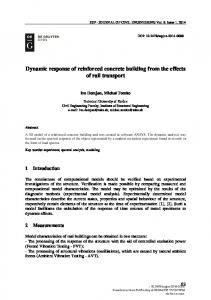 Dynamic response of reinforced concrete building ...