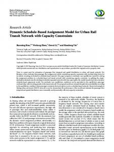 Dynamic Schedule-Based Assignment Model for Urban Rail Transit ...
