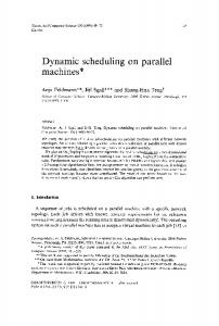 Dynamic scheduling on parallel machines - ScienceDirect