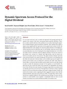 Dynamic Spectrum Access Protocol for the Digital Dividend