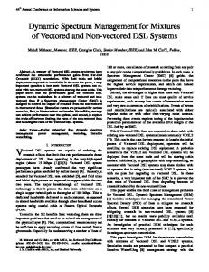 Dynamic Spectrum Management for Mixtures of ...
