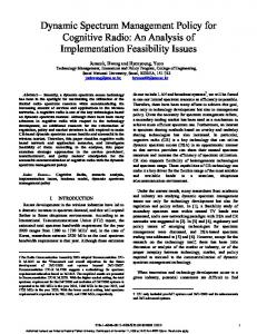 Dynamic Spectrum Management Policy for ... - Semantic Scholar