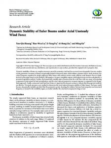 Dynamic Stability of Euler Beams under Axial Unsteady Wind Force