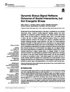 Dynamic Status Signal Reflects Outcome of Social ... - Semantic Scholar