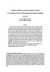 Dynamic Stochastic General Equilibrium Models In a ...