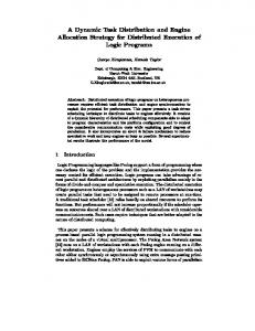 Dynamic Task - Mathematical and Computer Sciences - Heriot-Watt ...