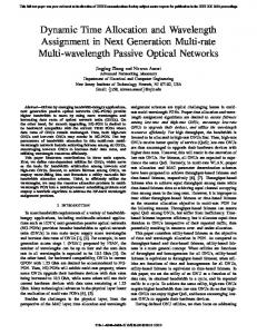 Dynamic Time Allocation and Wavelength ... - Semantic Scholar