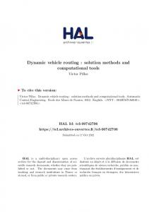 Dynamic vehicle routing - Tel Archives ouvertes - Hal