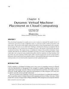 Dynamic Virtual Machine Placement in Cloud Computing