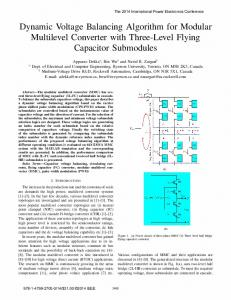 Dynamic Voltage Balancing Algorithm for Modular ... - IEEE Xplore