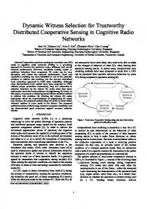 Dynamic witness selection for trustworthy distributed cooperative ...