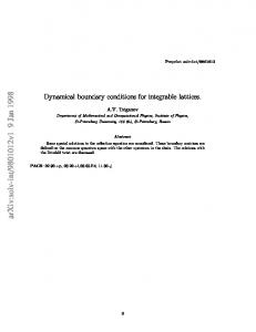 Dynamical boundary conditions for integrable lattices