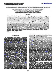 dynamical modeling of the merger of the sagittarius dwarf ... - IOPscience