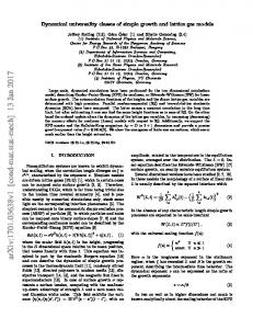 Dynamical universality classes of simple growth and lattice gas models