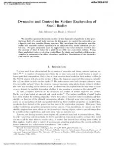 Dynamics and Control for Surface Exploration of Small ... - Deep Blue