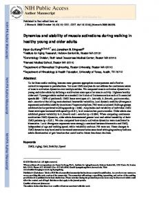 Dynamics and stability of muscle activations during walking in healthy ...
