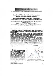 Dynamics in FePt Thin Films Studied by Grazing Incidence ... - Qucosa