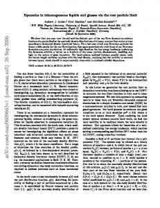 Dynamics in inhomogeneous liquids and glasses via the test particle ...