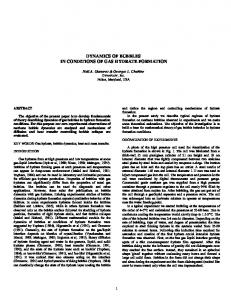 dynamics of bubbles in conditions of gas hydrate ... - Dynaflow, Inc.