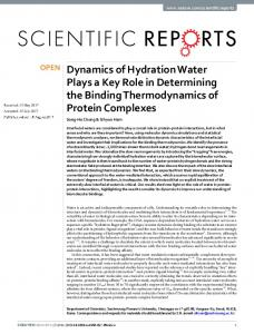 Dynamics of Hydration Water Plays a Key Role in