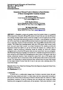 Dynamics of Mutual Funds in Relation to Stock Market: A Vector ...
