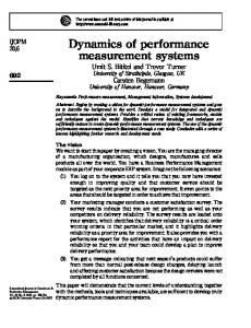Dynamics of performance measurement systems