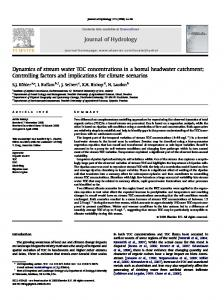 Dynamics of stream water TOC concentrations in a boreal headwater ...