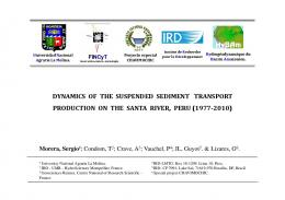 dynamics of the suspended sediment transport