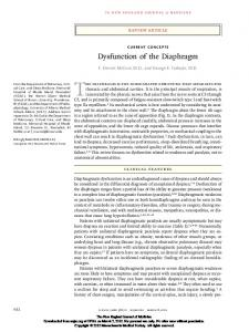 Dysfunction of the Diaphragm - Semantic Scholar