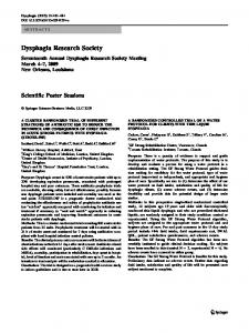 Dysphagia Research Society - Springer Link