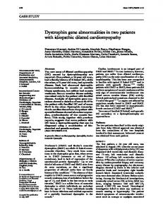 Dystrophin gene abnormalities in two patients with ... - Europe PMC