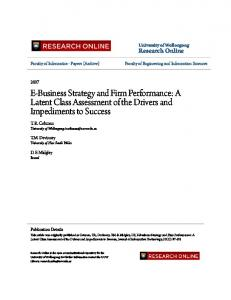 E-Business Strategy and Firm Performance: A ... - Semantic Scholar