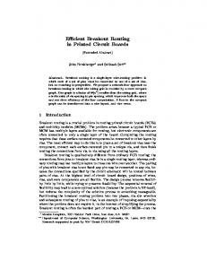 E cient Breakout Routing in Printed Circuit Boards - Semantic Scholar