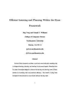 E cient Learning and Planning Within the Dyna Framework - CiteSeerX