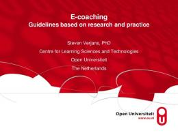 E-coaching competences - DSpace Open Universiteit
