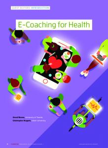 E-Coaching for Health - IEEE Computer Society