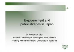 E-government and public libraries in Japan