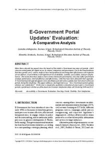 E-Government Portal Updates' Evaluation: