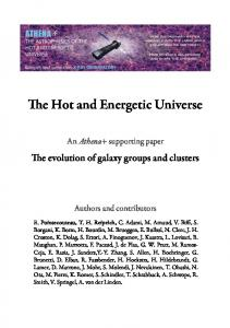 e Hot and Energetic Universe - arXiv