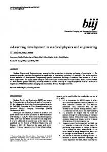 e-Learning development in medical physics and