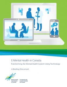 E-Mental Health in Canada - Mental Health Commission of Canada