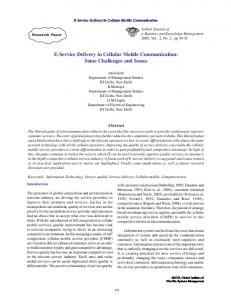 E-Service Delivery in Cellular Mobile Communication ...