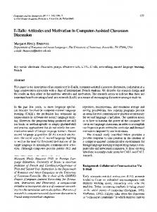 E-talk: Attitudes and motivation in computer-assisted ... - Springer Link