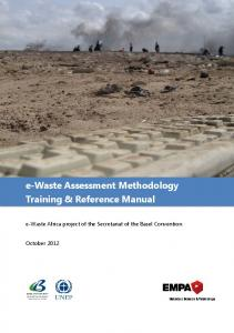 e-Waste Assessment Methodology Training ... - Basel Convention