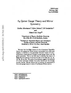 E8 Quiver Gauge Theory and Mirror Symmetry