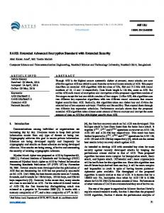 EAES: Extended Advanced Encryption Standard with ... - ASTESJ