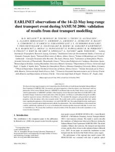EARLINET observations of the 1422May longrange dust transport ...