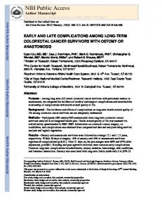 EARLY AND LATE COMPLICATIONS AMONG LONG-TERM ...